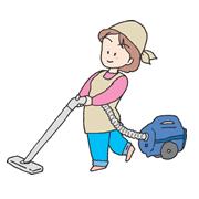 掃除機をかける家政婦さん