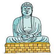 鎌倉大仏 イラスト 簡単