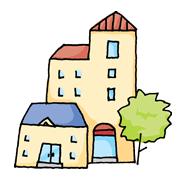 下町のアパートメント
