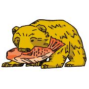 木彫りの熊の置物